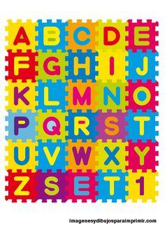 Abecedario infantil-Imagenes y dibujos para imprimir