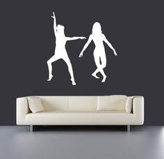 vinyl wall decal sticker bedroom holl dorm dancing sexy girl go-go danc a47