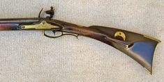 Contemporary Makers: Antique Lehigh PA Rifle by Stofel Long c. Flintlock Rifle, Black Powder Guns, Longhunter, Seven Years' War, Cool Guns, Stone Work, Firearms, Hand Guns, Hunting