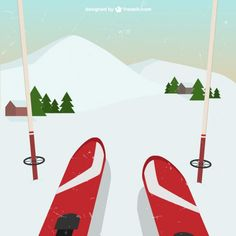 Discover recipes, home ideas, style inspiration and other ideas to try. Ski Vintage, Vintage Ski Posters, Winter Illustration, Illustration Art, Creative Illustration, Vintage Hawaii, Mountain Paintings, Snow Skiing, Cute Wallpaper Backgrounds