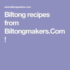 Biltong recipes from Biltongmakers. Biltong, South African Recipes, Fresh Meat, Traditional, Diy, Bricolage, Do It Yourself, Homemade, Diys