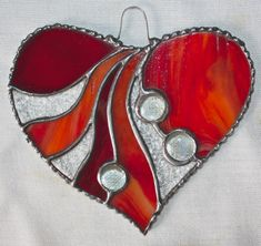 Your place to buy and sell all things handmade Stained Glass Angel, Stained Glass Ornaments, Stained Glass Christmas, Stained Glass Suncatchers, Stained Glass Designs, Stained Glass Projects, Stained Glass Patterns, Needlepoint Designs, Heart Patterns