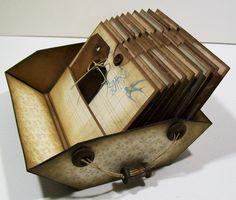 J Ann B Designs: Vintage Basket Photo Album