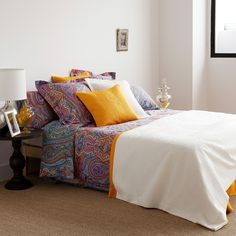 PAISLEY-PRINT SATIN BEDDING - Bedroom - Gypset - Shop by collection | Zara Home United States of America