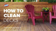 Clean and Care Garden Furniture - Clean the deck just in time for summer outdoor entertaining! - Well maintained and maintained garden furniture not only looks more attractive, but also lasts much longer. Cleaning Deck Wood, Clean Siding, Clean Patio, Outdoor Projects, Outdoor Decor, How To Clean Furniture, Modern Furniture, Building A Deck, Outdoor Entertaining