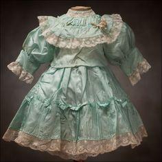 Antique Aqua Silk dress