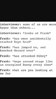 Haha I remember this interview