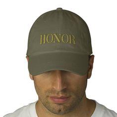 HONOR EMBROIDERED BASEBALL CAP