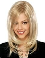 Buy New Arrivals Short Blonde Wigs Fashion fluffy Women cute Hair Wig at Wish - Shopping Made Fun Blonde Side Bangs, Blonde Wig, Short Blonde, Medium Long Hair, Medium Hair Styles, Short Hair Styles, Medium Bob Hairstyles, Hairstyles With Bangs, Remy Human Hair