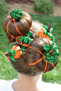 """Hairdo's for """"Crazy Hair Day"""""""