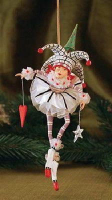 Patience-Brewster-JOSIE-JOKER-OF-HEARTS-ornament-Krinkles-CUTE-New