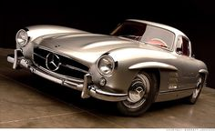 1954 Mercedes Benz 300SL Gullwing;  only 149 were built in 1954, and this one has only 4,159 miles on the odometer.