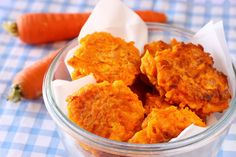 Spicy carrot and coriander fritters   Easy Recipes   Dinner Recipes   Creamline Recipes