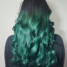 "249 Likes, 8 Comments - N. DARTMOUTH, MA HAIRCOLORIST (Lisa De Mond) on Instagram: ""Emerald city 💚 #lisadoeshair #btconeshot_color16 #btconeshot_ombre16 #behindthechair"""