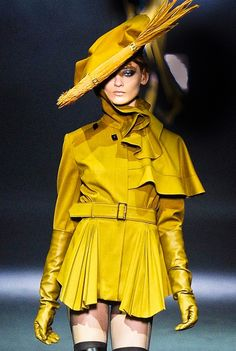 john-galliano. Definitely would not sport the hat...but the coat with a pair of jeans. Gorgeous