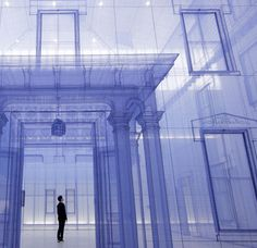 Artist Do Ho Suh Compares His Previous Homes By Creating 1:1 Silk Replicas, One Inside the Other textiles silk sculpture installation archit...