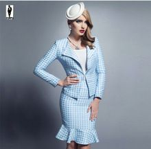 2016 UR 13 Sky Blue Thick Elegant Designer Professional Bussiness Suits Female…