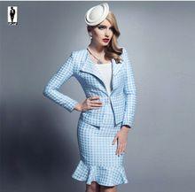 2016 UR 13 Sky Blue Thick Elegant Designer Professional Bussiness Suits Female…