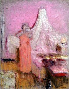 Edouard Vuillard - The Morning Cup of Tea (pastel on paper)