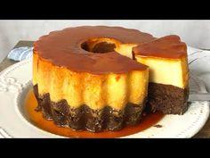 Pastel imposible, chocoflan o tarta mágica. ¡Magia en tu horno! - YouTube Brownies, Brownie Cake, Chocolate Flan Cake, Dessert Parfait, Cheesecake, Four, Sweet Recipes, Cupcake Cakes, Food And Drink