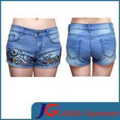 China Women Denim Embroidered Shorts (JC6071) - China Embroidered ...