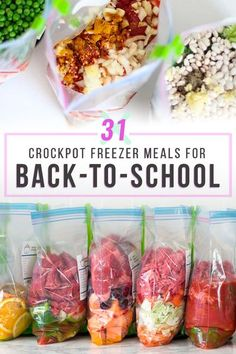 Want to simplify the busy back-to-school season? Stock your freezer with crockpot freezer meals! Here are 31 crockpot recipes that I've tried myself (grocery list included!). Slow Cooker Freezer Meals, Healthy Freezer Meals, Dump Meals, Make Ahead Meals, Crock Pot Cooking, Slow Cooker Recipes, Freezer Recipes, Freezer Cooking, Crockpot Dump Recipes