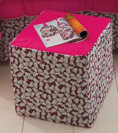 Hello Kitty Ottoman at Joann.com (I would probably do this with other fabric)
