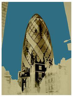 POP Art, Battersea Power Station, Gherkin, Saint Pauls, London Eye, Online Art Gallery, Big Fat Arts, BFA Gallery, Czar Catstick, Baxter Cane