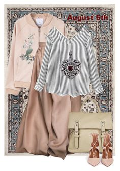 """""""OOTD"""" by yesitsme123 ❤ liked on Polyvore featuring MANGO, WithChic, Lily Blanche, La Diva and Aquazzura"""