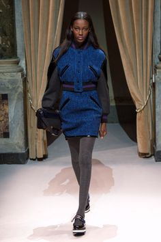 Look 21 from Fay Women's Fall - Winter 2014/15 collection seen on the catwalk.
