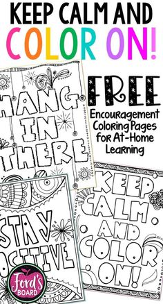 These encouragement coloring pages are designed to keep students positive and calm during distance learning. They are great to use to help students de-stress and practice mindfulness. Coloring also helps stimulate the brain and is so much fun! Simply print and enjoy! #at-homelearning #distancelearning #coloringpages #encouragementcoloring #funathomeideasforkids Mermaid Coloring Pages, Free Adult Coloring Pages, Printable Coloring Pages, 6th Grade Science Projects, Science Lessons, Educational Crafts, Books For Boys, Teaching Resources, Teaching Ideas