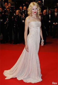 Naomi Watts in a dreamy pale pink creation by Frida Giannini's couture collection at Cannes
