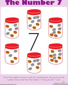 Counting: The Number 7 Worksheet