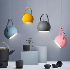 Macaroon-Lamp Simplicity-Bowl-Pendant Light Chandelier Lighting Lamp-Bulb Included-Five Colors-Two S Cheap Pendant Lights, Kitchen Pendant Lighting, Kitchen Pendants, Modern Pendant Light, Glass Pendant Light, Bar Lighting, Chandelier Lighting, Pendant Lamps, Round Pendant