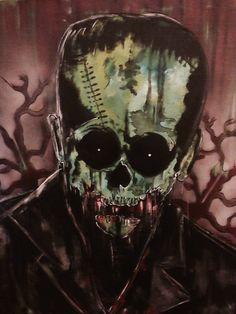 #universalmonsters #Frankenstein #horror #Frankie #maddoctor #dr. frankensteins monster #tattoofacemiller