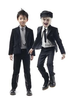Junior Gaultier boys great tailored suits for winter 2012 for children's fashion