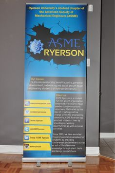 ASME Ryerson University #RetractableBanner