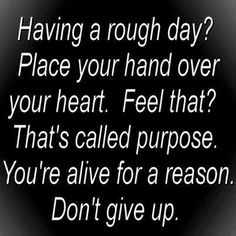 Don't give up. <3