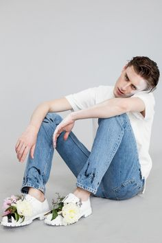 Alek Stoodley| Photographed by Angelika Wierzbicka for Idol Magazine | Need to DIY these shoes asap