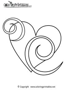 printable coloring pages for girls the word free heart swirls coloring page - Word Girl Coloring Pages