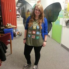 Social Butterfly!! Cute and 'punny' costume for halloween -- and its incredibly easy! Thanks Pinterest for this idea !!