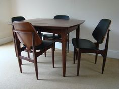 50+ Vintage Teak Dining Chairs - Rustic Modern Furniture Check more at http://www.ezeebreathe.com/vintage-teak-dining-chairs/