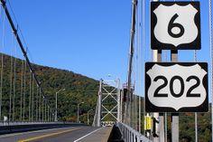 bridges in westchester county ny   Bear Mountain Bridge over Hudson River, New York