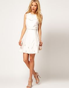 All Mine!!! Enlarge ASOS Mini Dress With Embroidered Cut Outs
