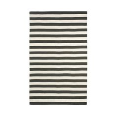 8x10 $495 DwellStudio Draper Stripe Ink/Cream Rug
