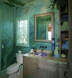 Beautiful Underwater Bathroom Design on bedroom underwater, bathroom art underwater, bathroom under the sea, living room underwater,