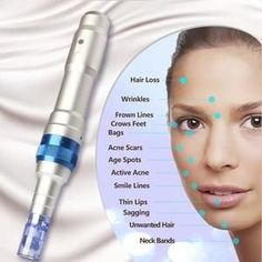 Pen Derma Pen Ultima Most Advanced Rechargable & Adjustable Auto Microneedle System for Anti Aging, Cellulite & Scar Treatment Scar Treatment, Skin Treatments, Derma Roller, Anti Aging Tips, Acne Scars, Pimples, Skin Care Tips, Serum, Skin Care Products