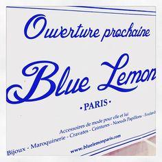 Ouverture prochaine de votre boutique Blue Lemon Paris à Lyon ! Rue Ferrandière, au coeur de la Presqu'île ! #openingsoon #boutique #ferrandière #presquîle #lyon #bluelemonparis
