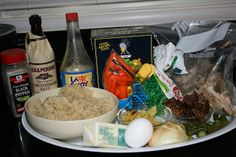 slow cooker fried rice ingredients. uses leftovers and takes 2-3 hours