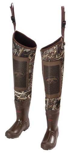 Duck Commander Double Reed Waterproof Insulated Hip Waders for Men | Bass Pro Shops--size 10